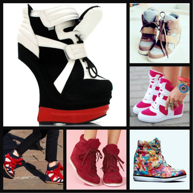 sneaker wedge collage